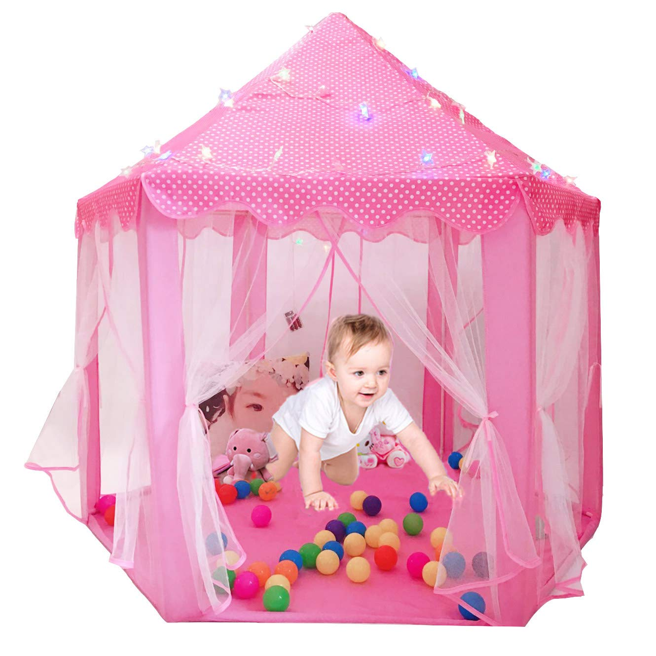 Ltd. Perfect Outdoor Child Toys with Star Lights Shenzhen Hengruilong Trading Co Kids Indoor Princess Castle Play Tents