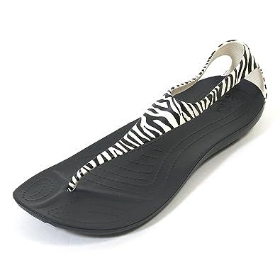 2e74f82d8aec74 Crocs Sexi Wild Flip Womens Zebra Black White (8)  Amazon.co.uk ...