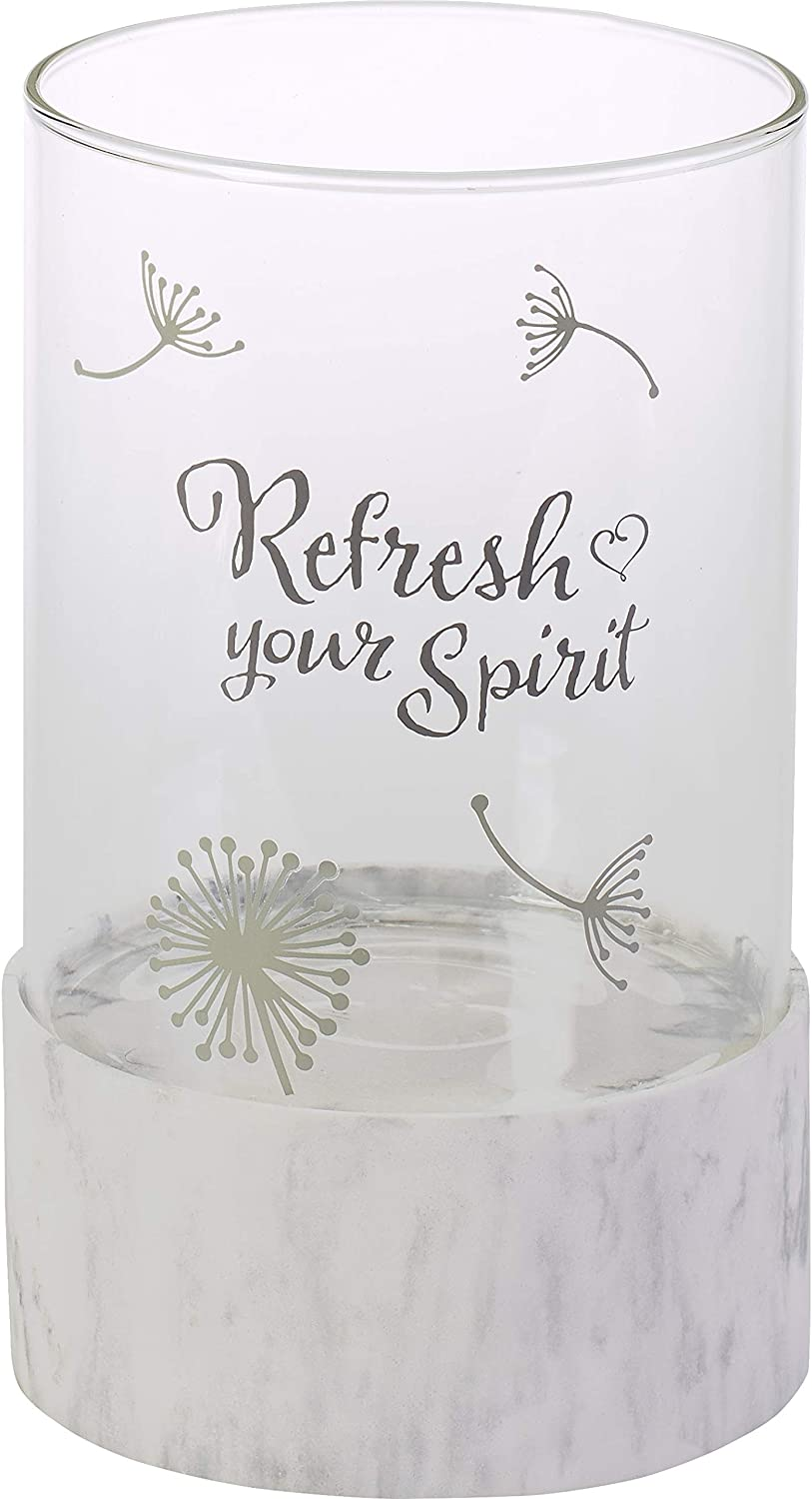 Precious Moments Refresh Your Spirit Hurricane Candle Holder 191474, One Size, Multi