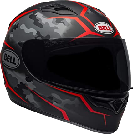 Bell Qualifier Full-Face Motorcycle Helmet (Stealth Camo Matte Black/Red, X-Small)