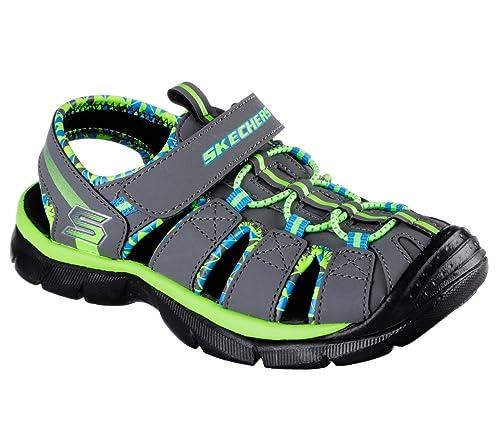 5bc6a2112 Skechers Relix Trophix Boys Sandals Charcoal Lime 2  Amazon.ca ...