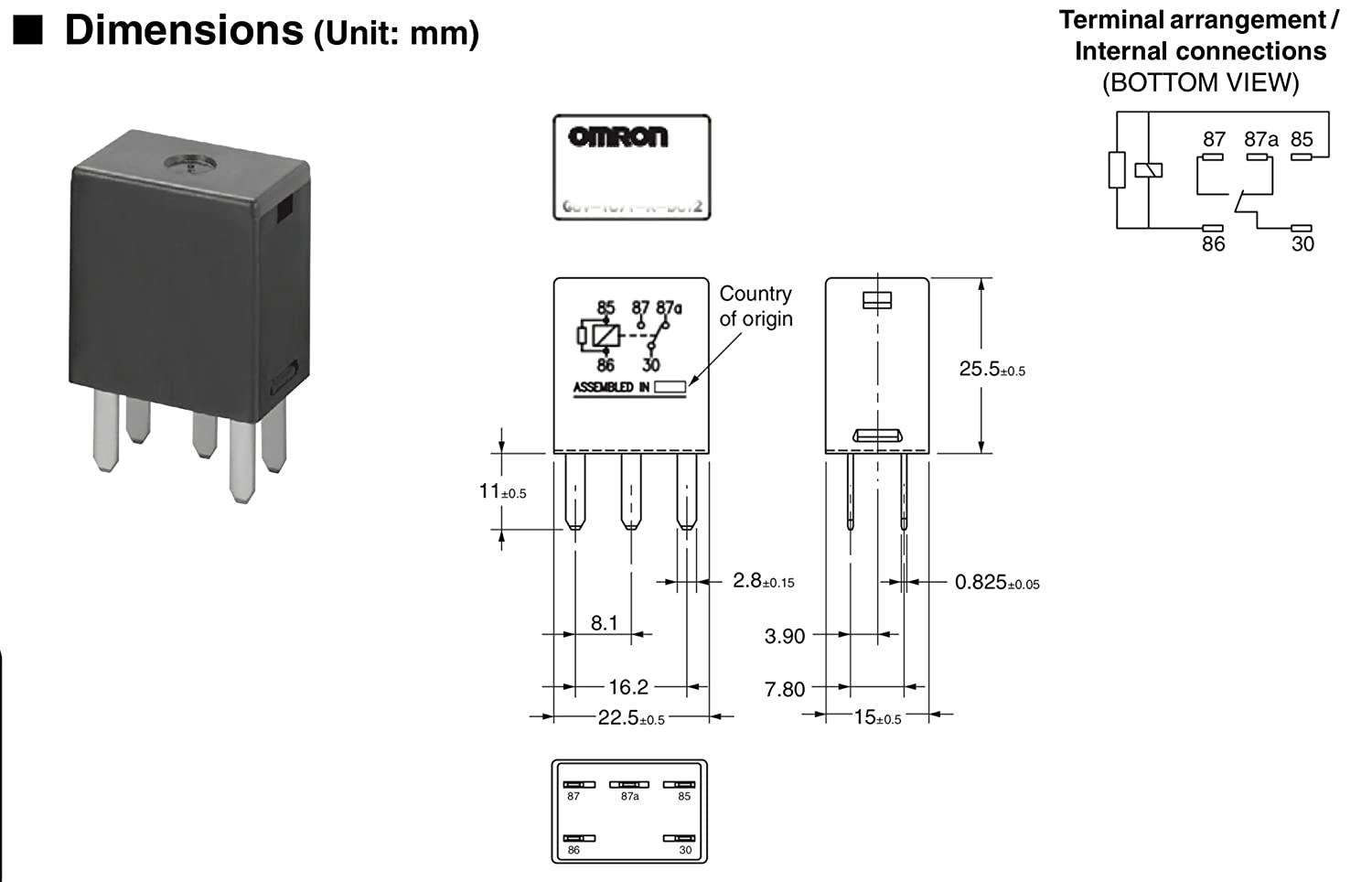 Omron 7866 Relay Diagrams Reinvent Your Wiring Diagram Amazon Com Gm 5 Pin Black 12077866 Replacement For 5810 Rh Mack Truck My4n