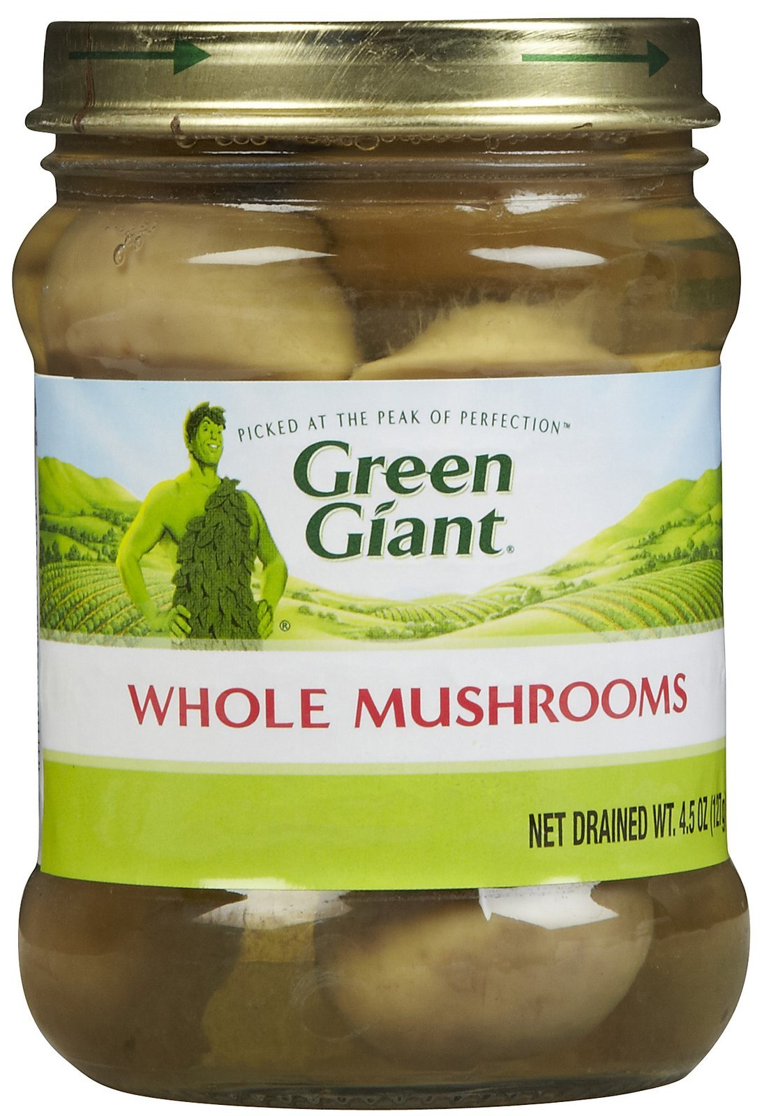 Green Giant Whole Mushrooms 4.5 oz (Pack of 12)