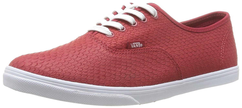 Vans Authentic Lo Pro VGYQETR Unisex - Erwachsene Klassische Sneakers 36.5 EU|Rojo (Rouge (Embossedsnake))