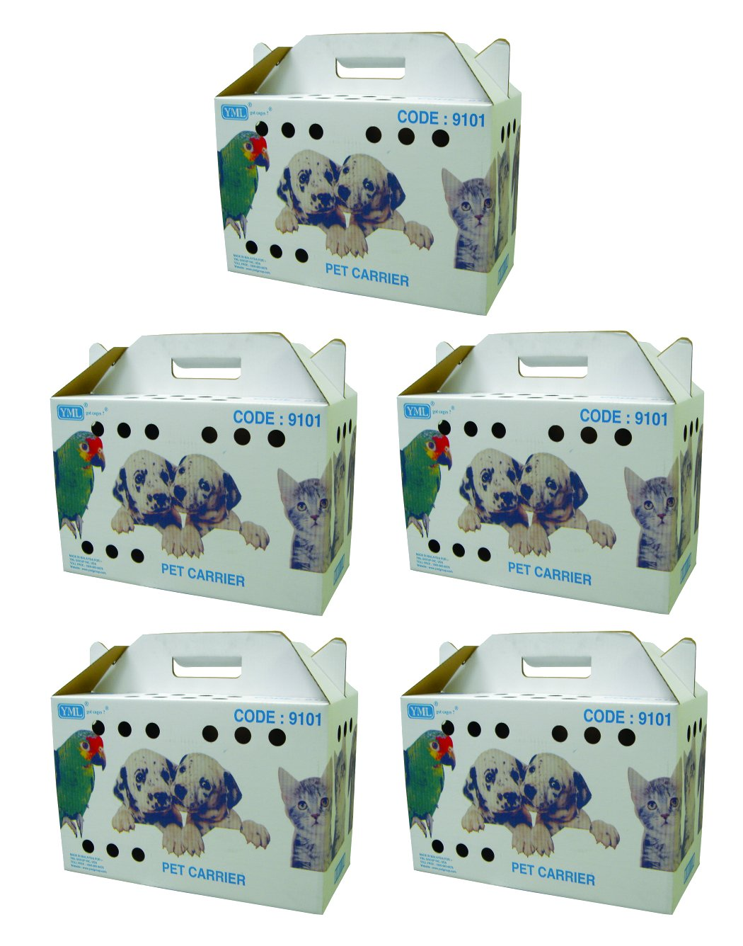 YML Travel Box for Small Animals, Lot of 5 YML GROUP INC 9101