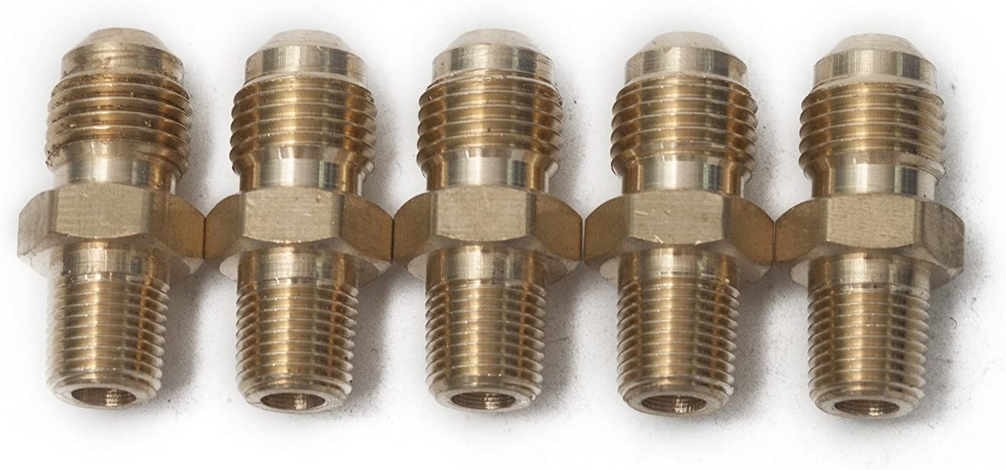 Flare Tee 5//16 x 5//16 x 5//16 Flare Anderson Metals Brass Tube Fitting