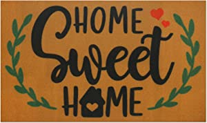 Home Sweet Home Doormat Indoor Outdoor Front Porch Rugs Rustic Carpet Gift Corridor Entrance Patio Greeting Vintage Farmhouse Floor Mat Decoration Supplies 17 x 30 Inches