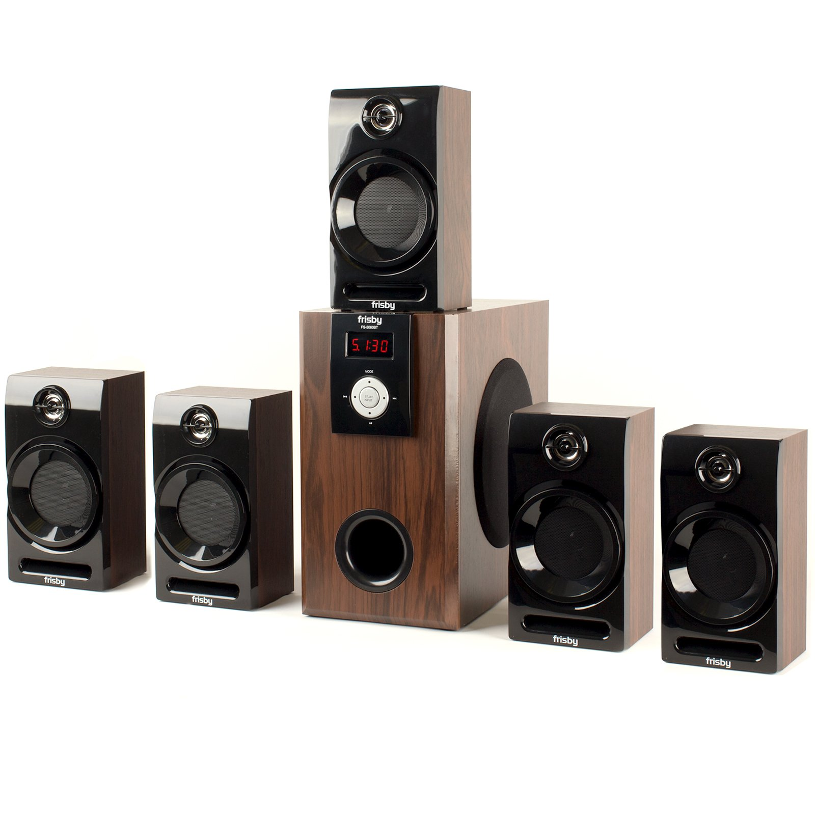 Frisby FS-5060BT 5.1 Surround Sound Home Theater Speakers System with Bluetooth USB/SD and Remote