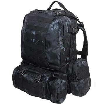 Mochila Táctica Mil-Tec Defense 36 Litros Kryptek-Kryptek Typhon (Negro): Amazon.es: Deportes y aire libre