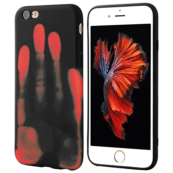 premium selection 5c962 b74d8 Seternaly Thermal iPhone Case Cool Covers for iPhone 6/iPhone 6S [4.7'']  Black into Orange