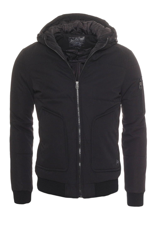 JACK & JONES Men's Bomber Plain Hooded Long Sleeve Jacket