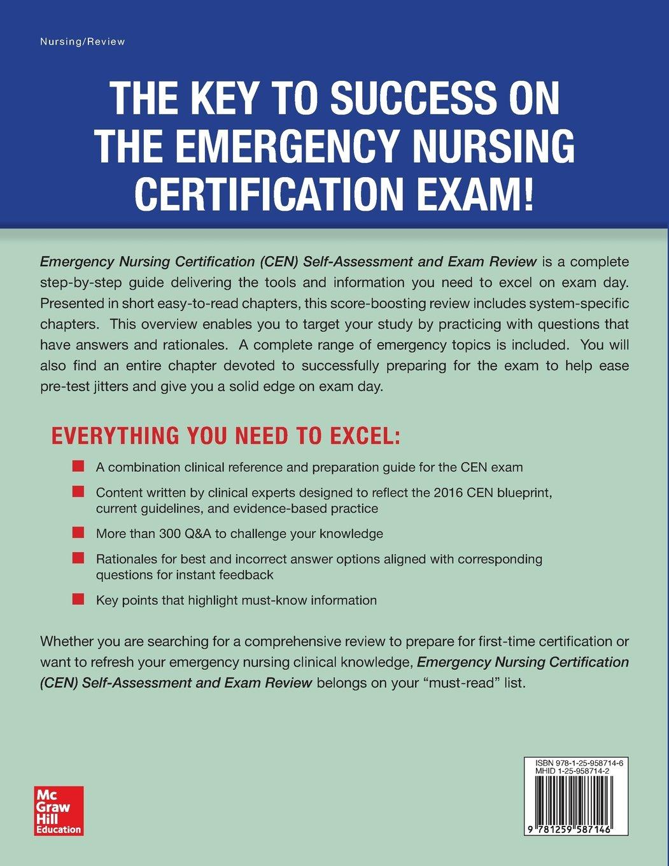 Buy Emergency Nursing Certification Cen Self Assessment And Exam