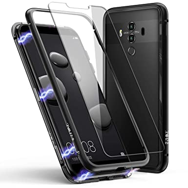 reputable site 7730c 2322e Huawei Mate 10 Pro Case, ZHIKE Magnetic Adsorption Case Metal Frame  Tempered Glass Back with Built-in Magnet Cover for Huawei Mate 10 Pro (Full  Black)
