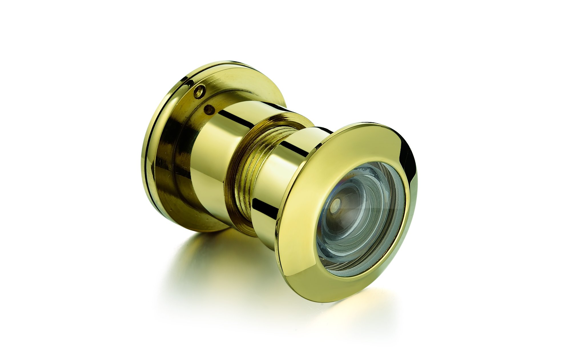 TOGU TG3828YG-PVD Brass UL Listed 220-degree Door Viewer with Heavy Duty Privacy Cover for 1-3/5'' to 2-1/6'' Doors, PVD Gold Finish
