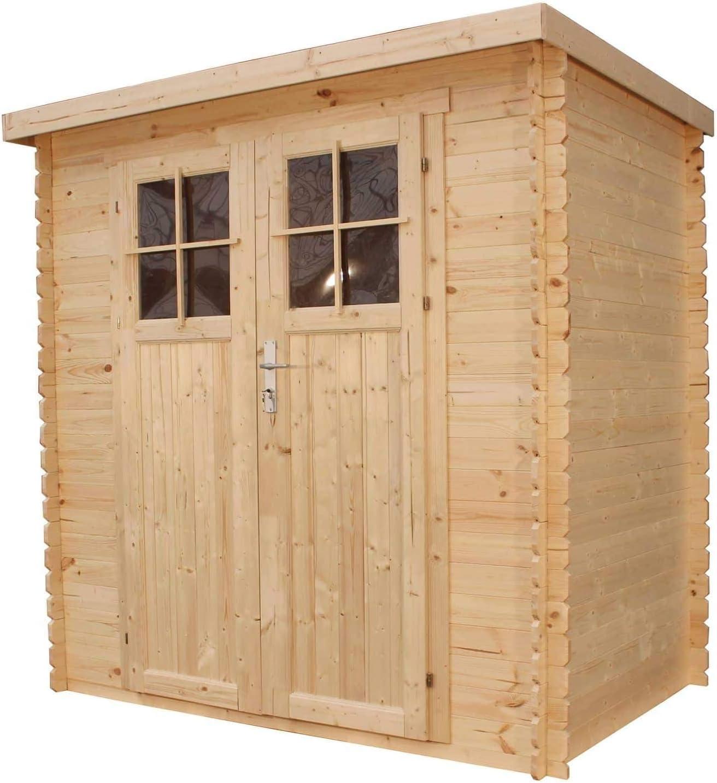 Timbula M310F+M310G - Caseta de jardín con base (tablones de madera de pino y abeto, 2, 35 x 1, 3 m, 2, 63 m²): Amazon.es: Jardín