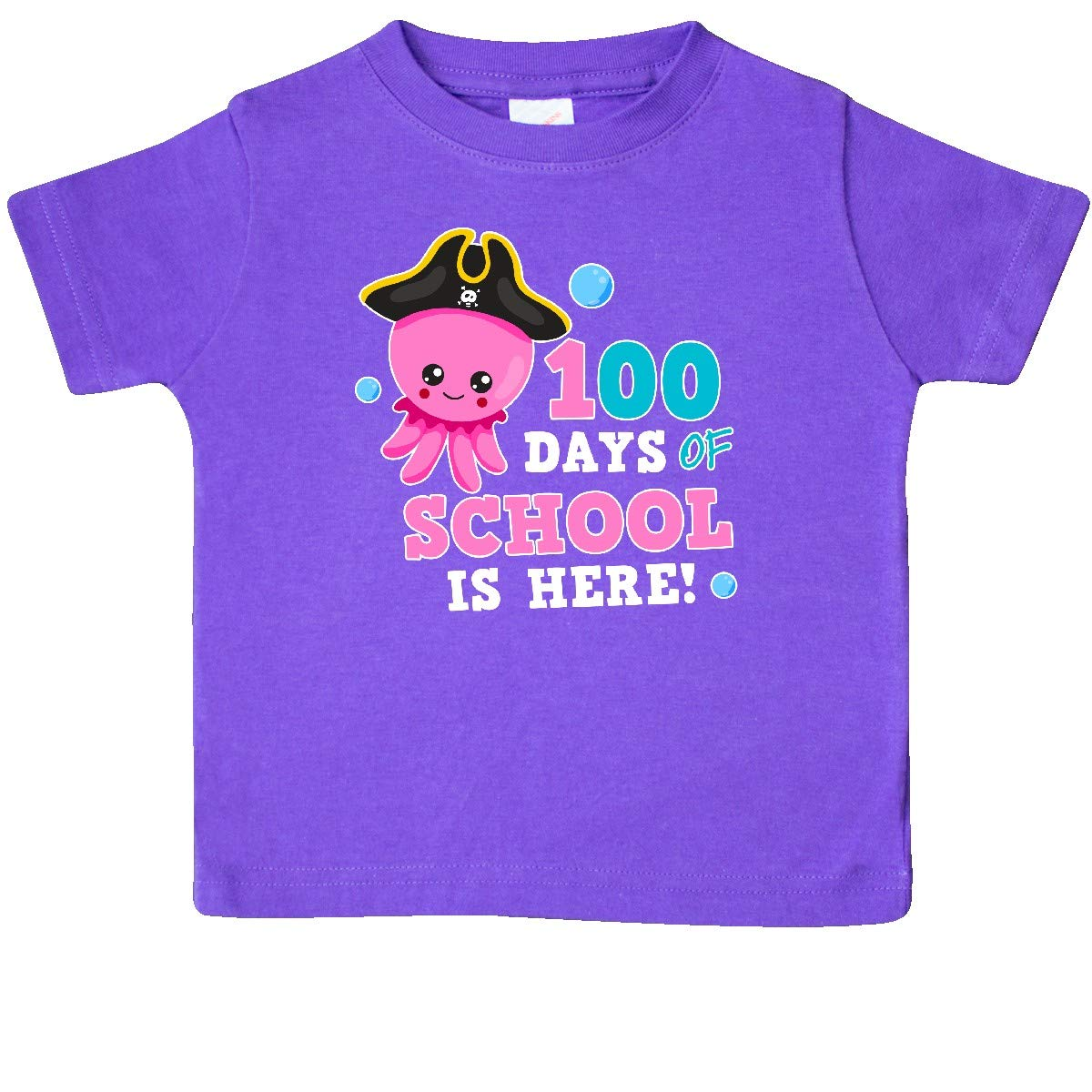 inktastic 100 Days of School is Here with Cute Octopus Baby T-Shirt