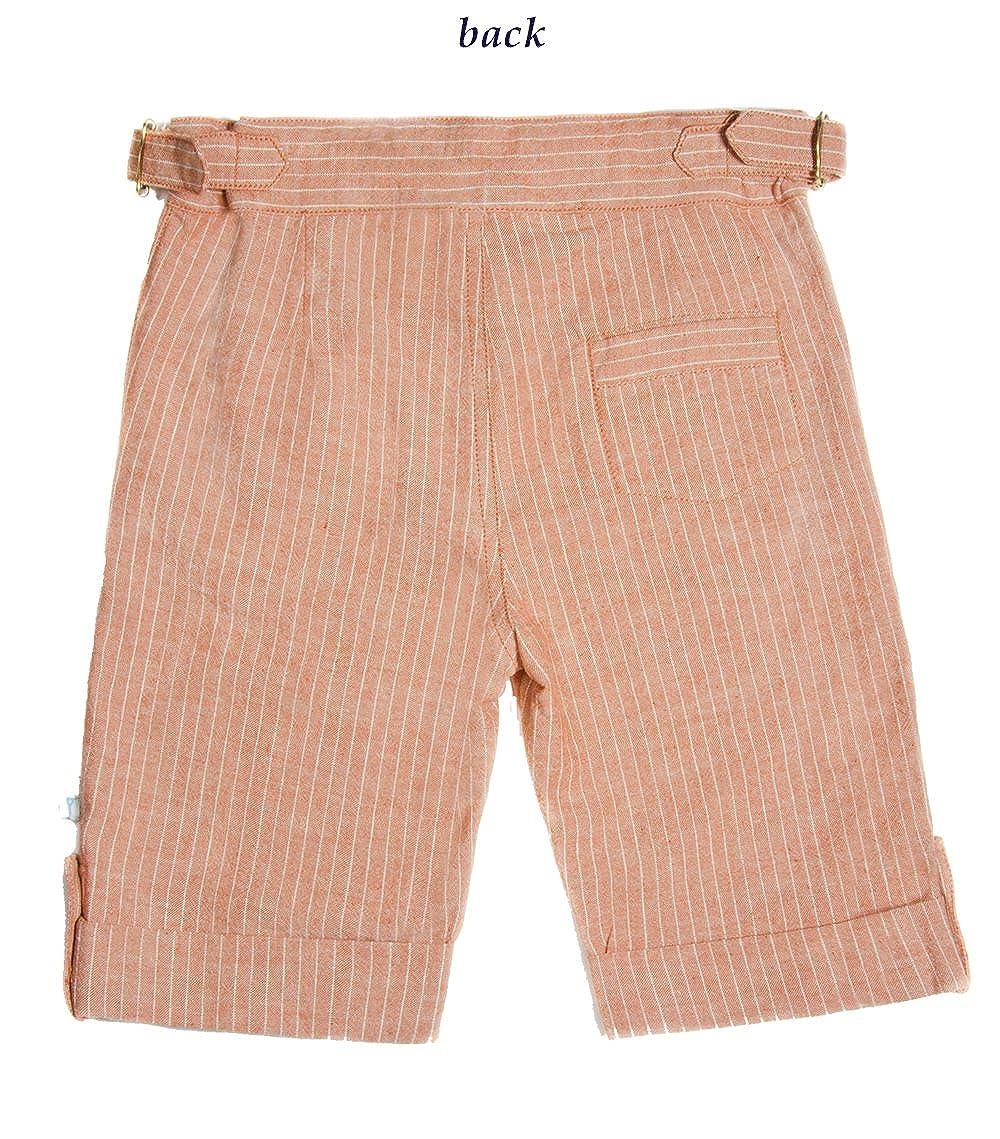 c Fore! Axel /& Hudson Little Boys Brick Linen Stripe Short
