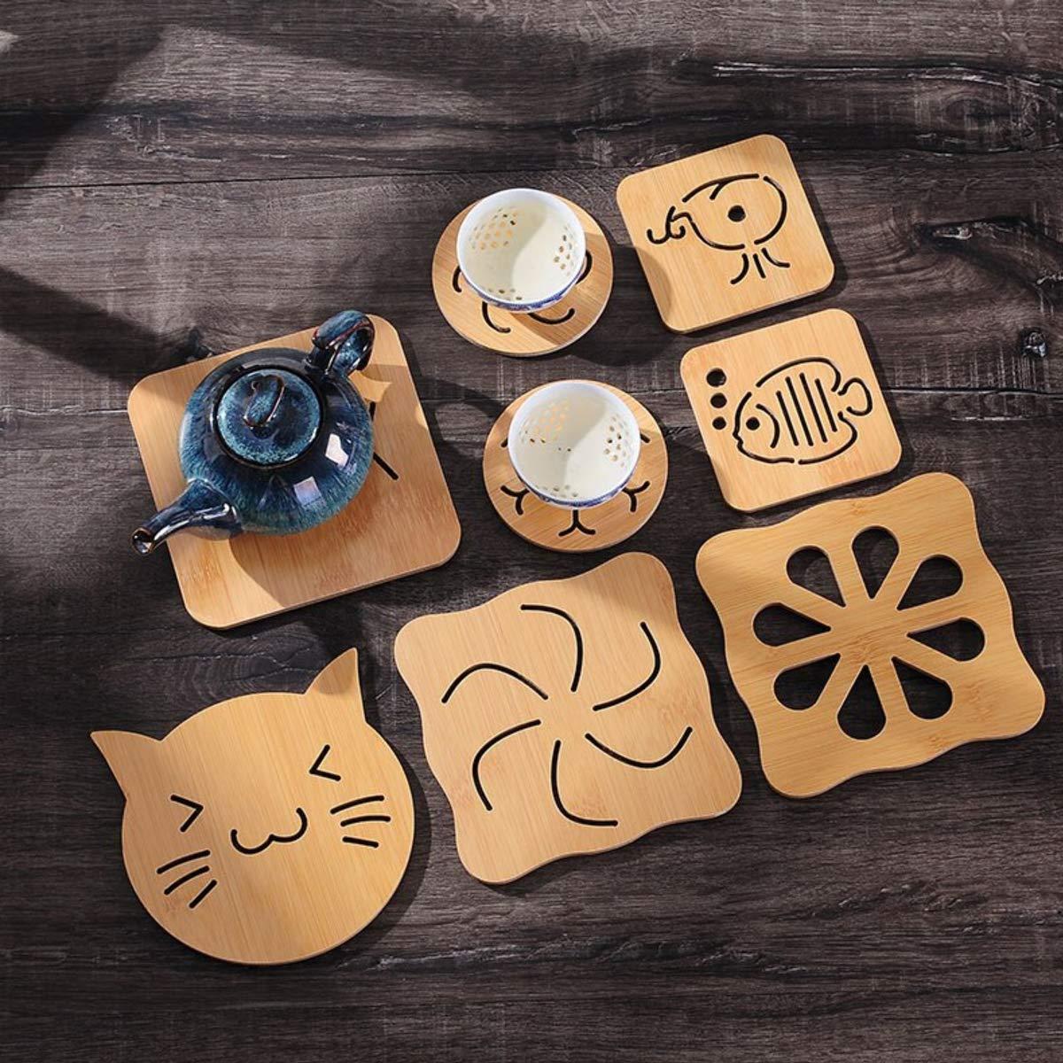 1pc Wooden Mat Pad Table Pad Pot Bowl Mat Coffee Mug Cup Mat Home Tableware