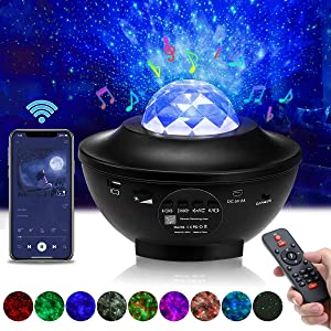 Star Projector Elfeland Night Light Projector with Music Speaker & Remote Control for Home/Party Decor Starry Projector with Music Function and Timer Best Gift for Kids Adults