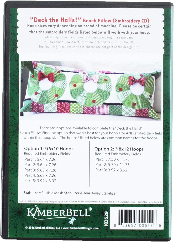Kimberbell Deck The Halls Bench Pillow Pattern