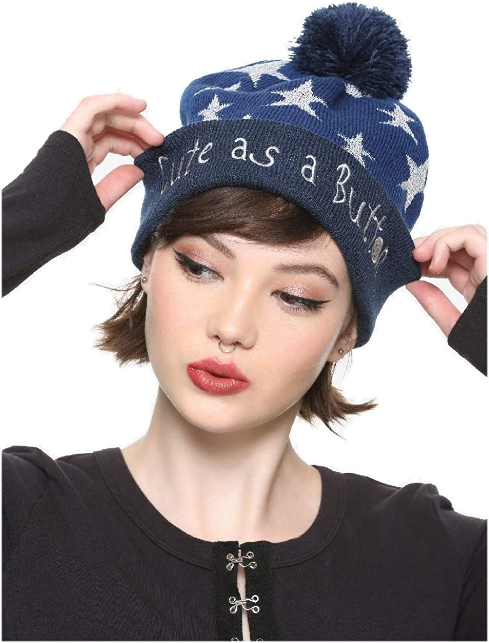Hot Topic Coraline Star Watchman Pom Beanie At Amazon Women S Clothing Store