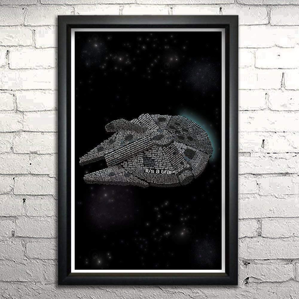 4d3815c182d Amazon.com  Star Wars Millennium Falcon art print 11x17