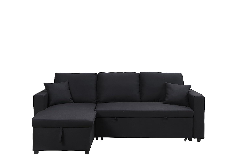 Amazon.com: Milton Greens Stars 8067-Black Sectional Sofa Black ...