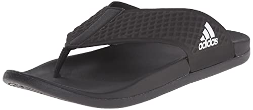 super popular 5c055 21d52 Adidas Mens Adilette Cloudfoam Plus Thong Flip Flops, Core BlackFootwear  WhiteCore