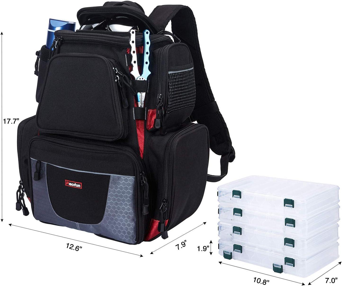 Piscifun Grand sac /à dos de p/êche /étanche avec housse de protection contre la pluie kaki, noir et camouflage
