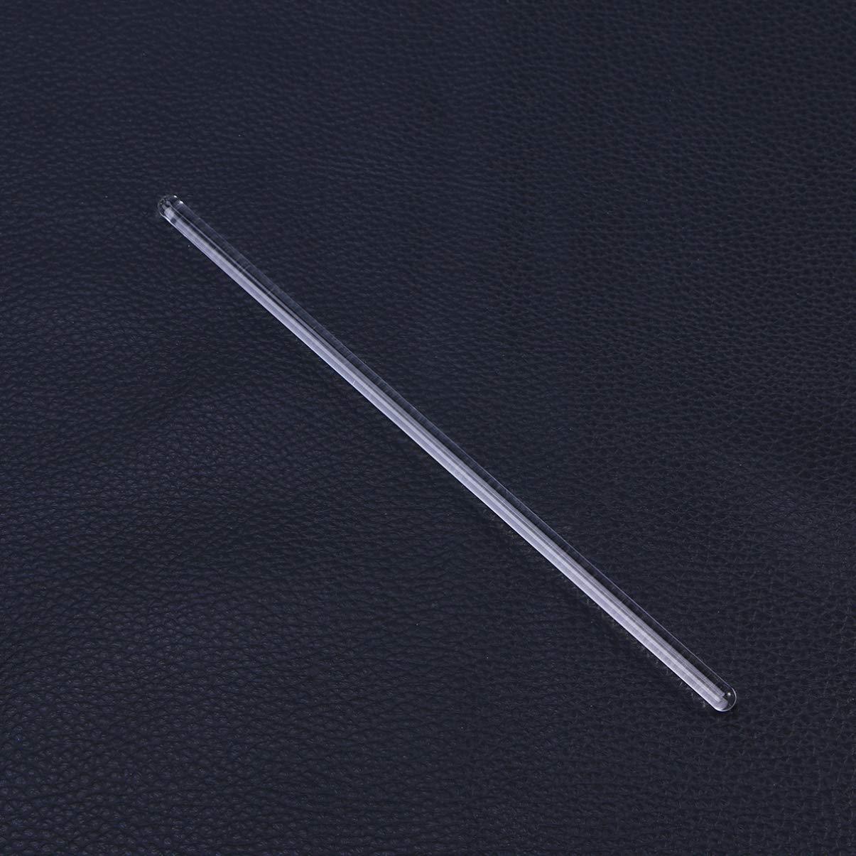 ULTECHNOVO 3pcs 20cm Glass Stirring Rod,Glass Buret Mixer Transparent,Reusable Laboratory Tools for Home,Lab
