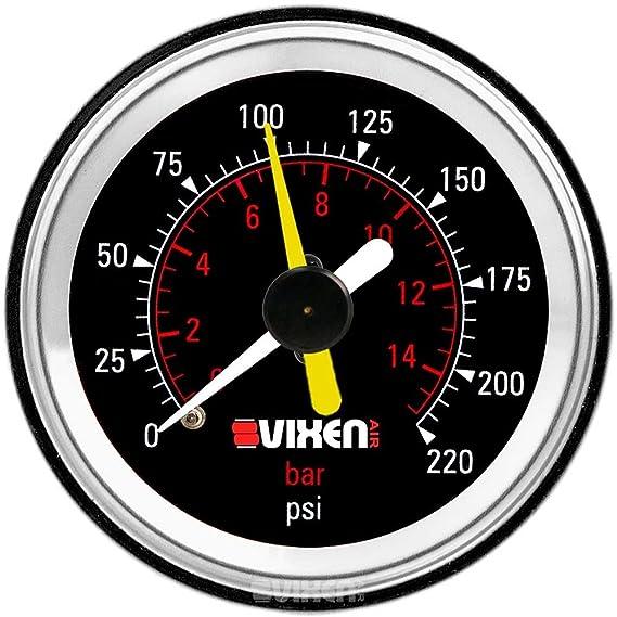 Amazon Com Vixen Air One 2 Dual Needle Air Pressure Black Gauge