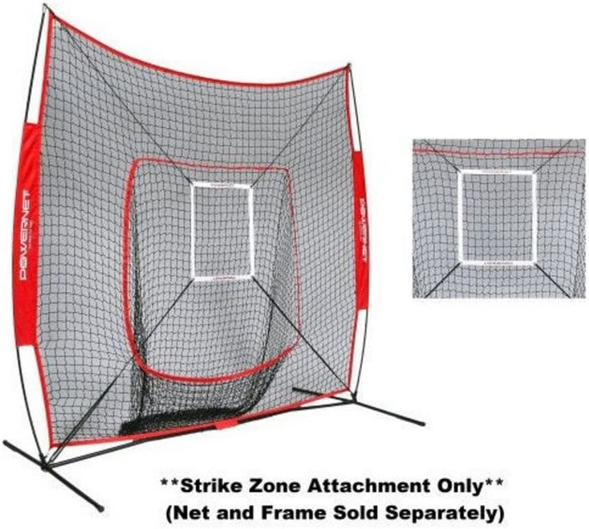 PowerNet Strike Zone Attachment for 7×7 Baseball Softball Net Work on Pitching Drills and Location Accuracy Solo or Team Pitcher Training Aid Instant Feeback on Strikes or Balls Location