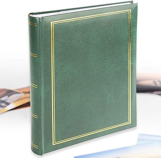 Verde Lomo de encuadernaci/ón, Bolsillos deslizantes, 300 Fotos en tama/ño 10 x 15 cm Victoria Collection Fotoalbum B 10x15//300M-2 Classic