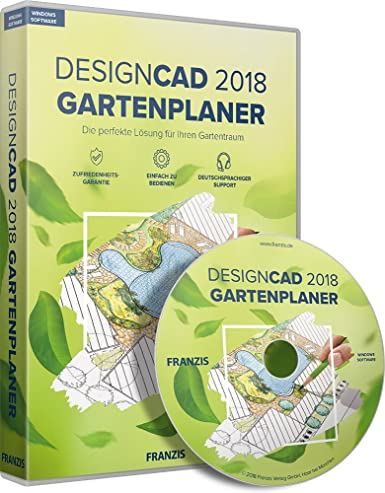 franzis designcad 2018 gartenplaner software 2018 gartenplaner 3 gerate fur windows