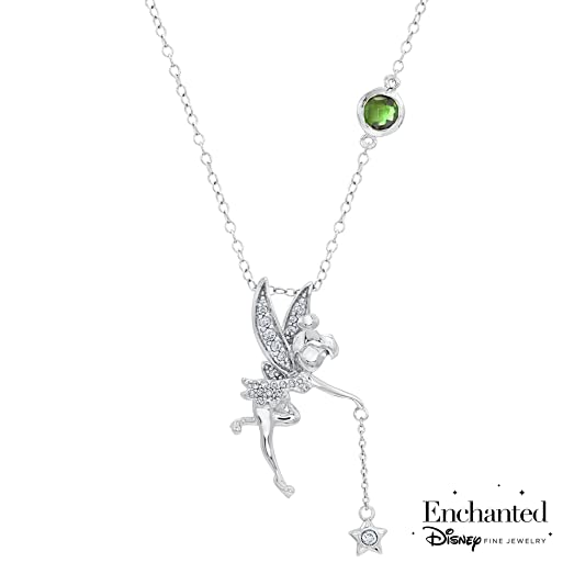 Amazon enchanted disney diamond tinkerbell pendant 110ctw jewelry enchanted disney diamond tinkerbell pendant 110ctw aloadofball Images