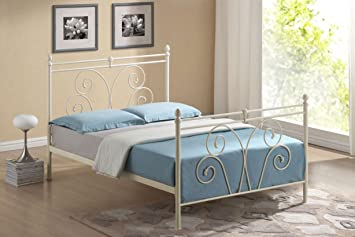 new 3ft single classic traditional swirl ivory metal bed frame - New Bed Frame