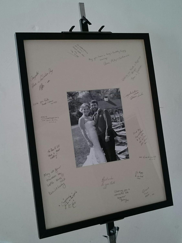 Personalised Wedding Guest Signing Frame Weddings Christenings