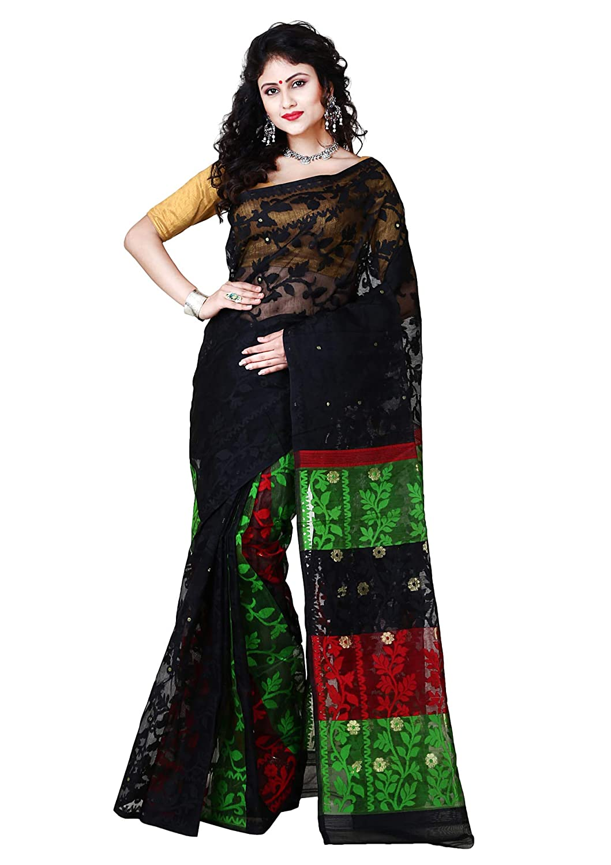 Black Color Jamdani Cotton Saree