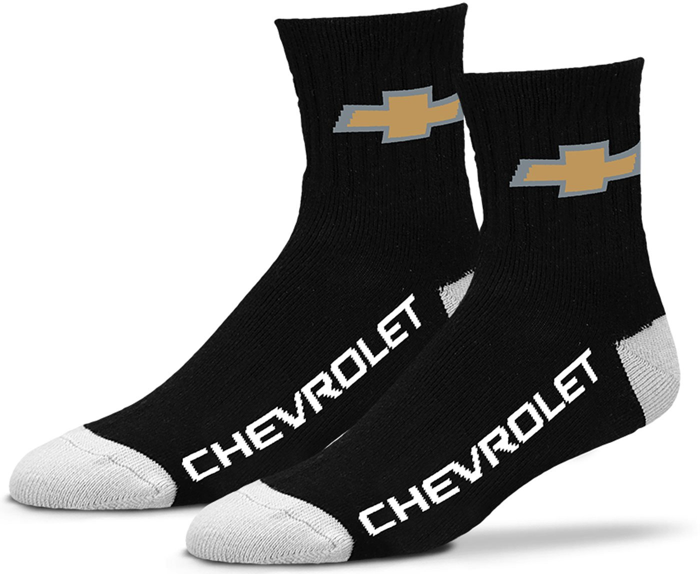 Gregs Automotive Chevrolet Chevy Bowtie Quarter Socks - Bundle - 2 Items: One Pair Socks One Racing Decal Greg' s Automotive