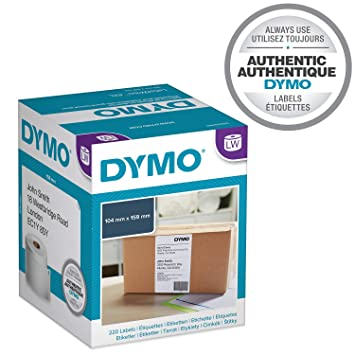 Lot S0904980 DYMO Compatible 4XL Shipping Labels 104x159mm 220 Per Roll