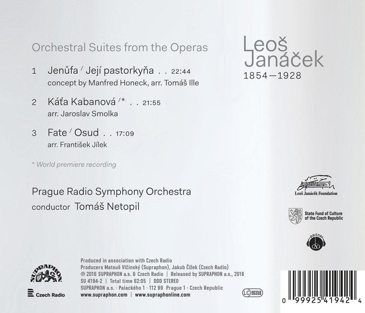 Leo Janácek: Orchestral Suites by Naxos of America, Inc.