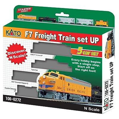 N F7 Freight Train Set Union Pacific 5-Unit Set: Toys & Games