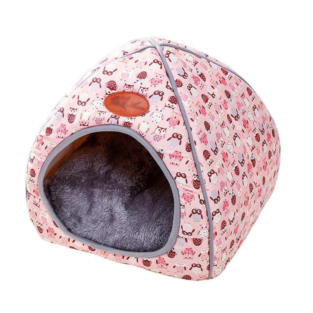 TianBin Moda Plegable Nido de Mascotas Otoño e Invierno Cerrado Perrera Hay un Arco en Top (Azul, S): Amazon.es: Productos para mascotas