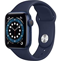 Apple Watch Series 6 (GPS, 40-mm) kast van blauw aluminium - Donkermarineblauw sportbandje