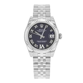 Amazon Com Rolex Datejust 178274 Pdrj Stainless Steel 18k White