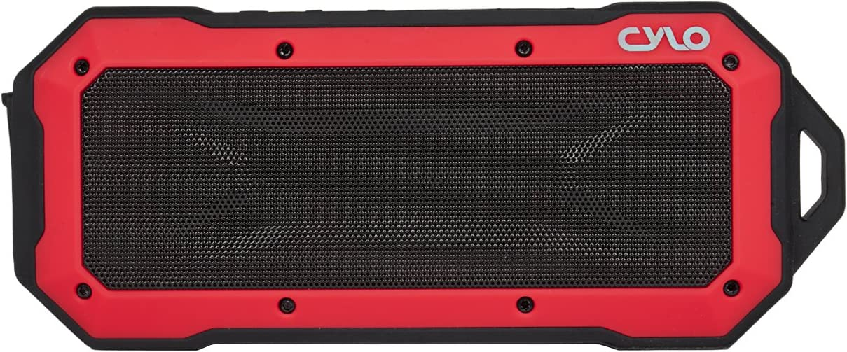33-Foot Bluetooth Range with Waterproof Bluetooth Speaker Rugged Heavy-Duty Shockproof Capability CYLO Waterproof Bluetooth Speaker Rock Solid IPX67 Portable with Powerful 2 X 3.0 Watt Output