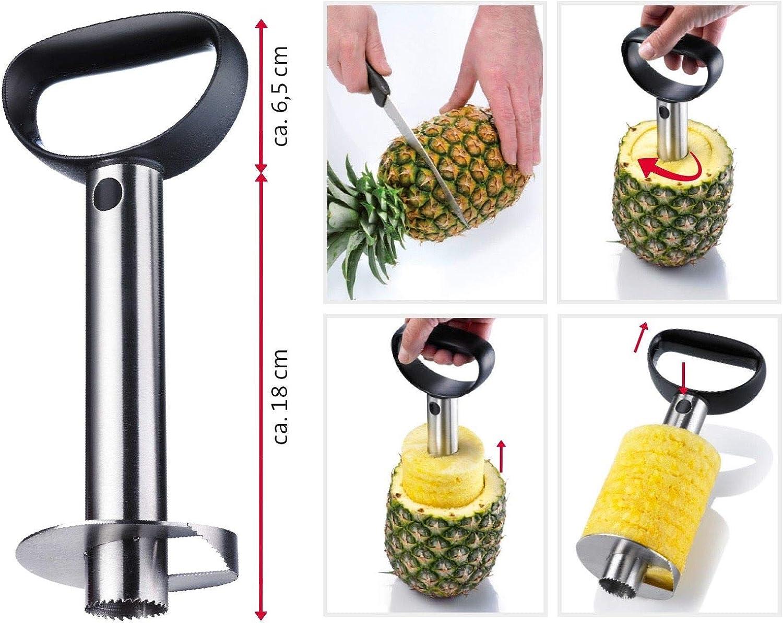Éplucheur Coupe Ananas plastique acier  8.5 x 24.5 cm