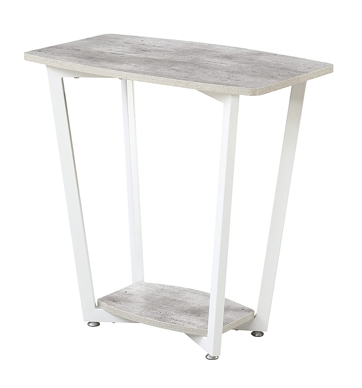 Convenience Concepts Graystone Stone End Table, Gray White
