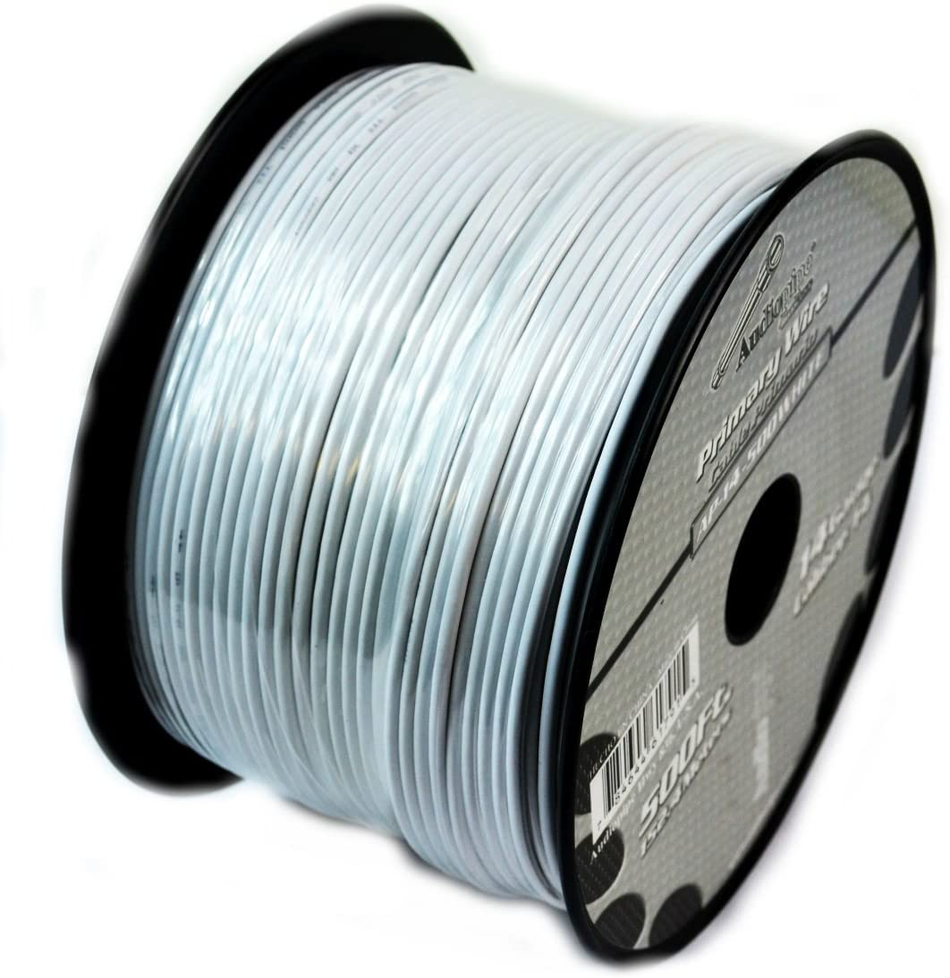 14GA Gauge 500FT Audiopipe Primary Remote Wire Auto Power Ground Cable (2 Rolls) Colors Available: Red, Yellow, Purple , Blue, White, Green, Black, Orange