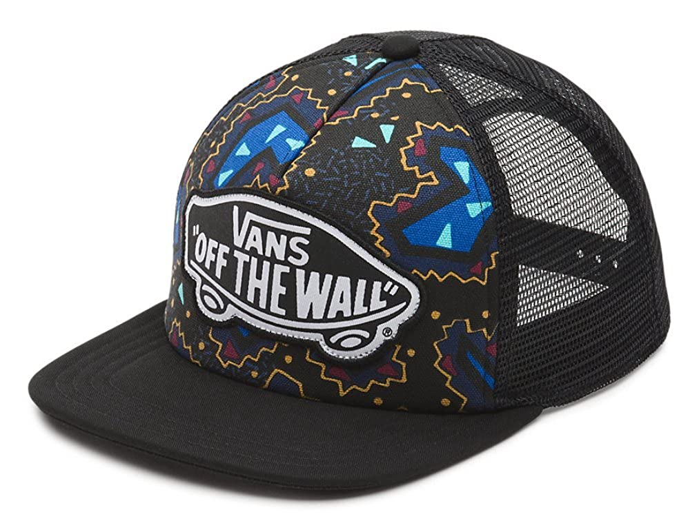 Vans Off The Wall Women s Beach Girl Trucker Snapack Hat Cap - Black Nautical  Blue at Amazon Women s Clothing store  378f1754ec86